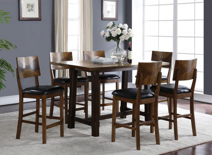 Gillian Oak Counter Height Table 4 Stools,Brandywine Showcase