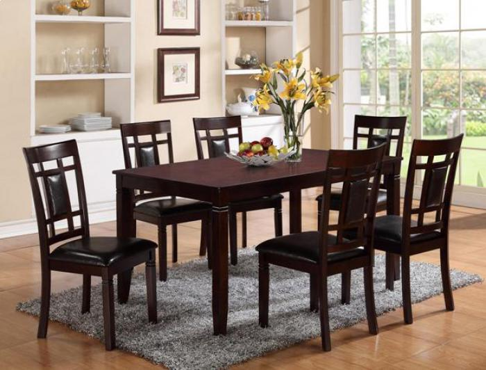 7 Piece Dining Set Merlot,Brandywine Showcase