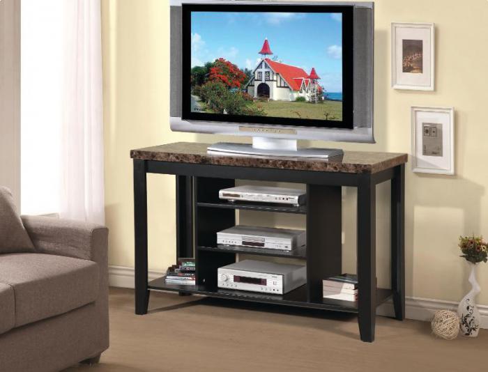 Genial TV Stand Faux Marble Top,Brandywine Showcase