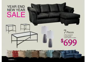 BUNDLES / Darcy Sofa Chaise/ Coffee 2 Ends/ 2 Lamps