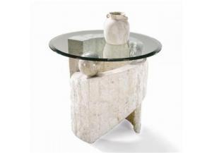 Ponte Verde White Fossil End Table