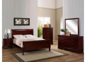 Louis Phillip Cherry Queen Bed/D/M/C/NS
