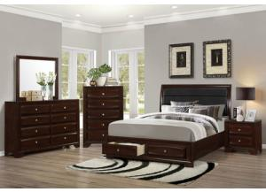 Cappuccino Queen Storage Bed/D/M/C/NS