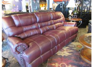 Maverick Cordovan Leather Reclining Sofa/Love,Brandywine Showcase