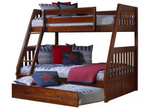 Merlot Twin-Over-Full Bunkbed WTrundle