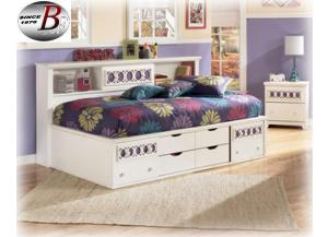 Zalley Twin Storage Bookcase Bed