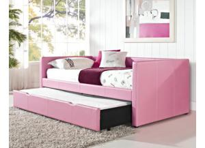 Daybed W/ Trundle Pink