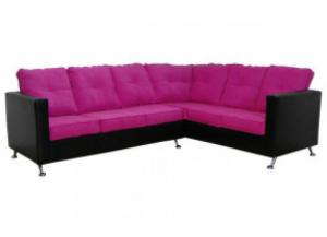 2PC Sectional San Marino Black/Aloha Fuschia