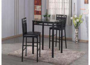 3 Pack Bar & 2 Stools Black Gator W/ Faux Marble
