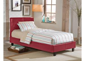 Twin Platform Bed Red