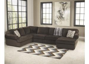 Jessa Place Chocolate Sectional