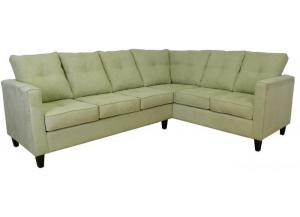 2PC Sectional Willow All Over