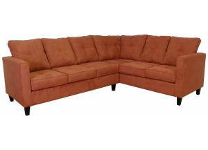 2PC Sectional Persimmon All Over