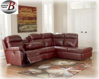 Durablend-Crimson Power Reclining/ storage chaise