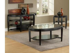 Celestial Black Oval Cocktail Table