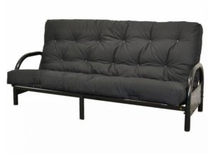 Futon Black Metal with Mattress,Brandywine Showcase