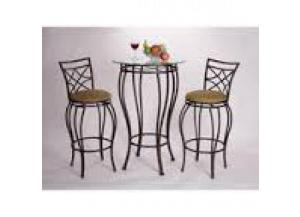 Web Bistro Table 2 Bar Stools