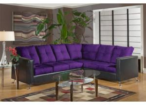 2PC Sectional Eggplant