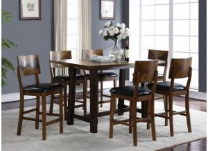 Gillian Oak Counter Height Table 4 Stools