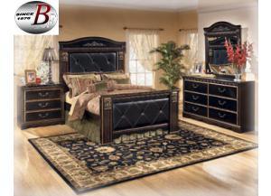 Coal Creek Dresser Mirror and Queen Bed