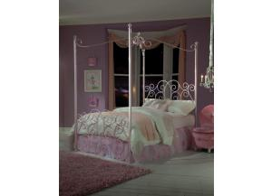 Canopy Twin Powder Pink Bed