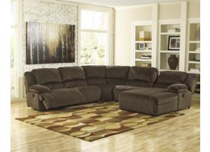 Tolette Power Reclining Sectional/4 recliners
