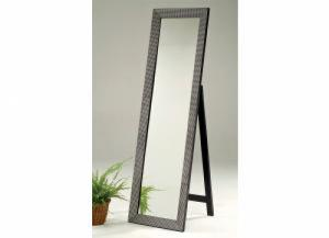 Cheval Mirror Blitz Beaded Industrial Metallic