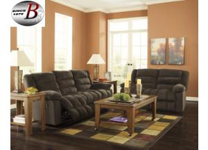 Ekron Chocolate Reclining Sofa/Love