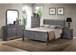 Louis Phillip Weathered Queen Bed/D/M/C/NS